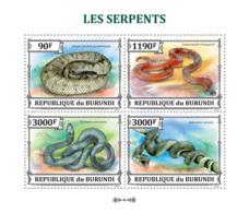 BURUNDI 2013 - Snakes M/S. Official Issues. - Burundi