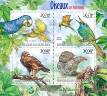 BURUNDI 2012 - Birds Of Red List M/S. Official Issues. - Burundi