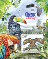 BURUNDI 2012 - Birds Of Red List S/S. Official Issues. - Burundi