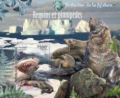 BURUNDI 2012 - Sharks & Pinnipeds S/S. Official Issues. - Burundi
