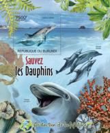BURUNDI 2012 - Save The Dophins S/S. Official Issues. - Burundi