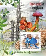 BURUNDI 2012 - Mushrooms & Acid Rain S/S. Official Issues. - Burundi