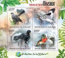 BURUNDI 2012 - Birds & Air Pollution M/S. Official Issues. - Burundi