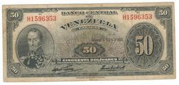 Venezuela 50 Bolivares, 1960. F/VF. - Venezuela