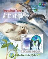 BURUNDI 2012 - Ozone Destruction In The Antarctic S/S. Official Issues. - Burundi