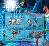 BURUNDI 2012 - London Olympics 2012 M/S. Official Issues. - 2010-..: Neufs