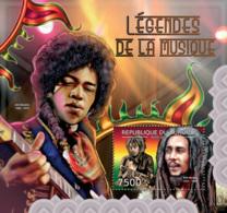 BURUNDI 2012 - Legends Of Music S/S. Official Issues. - Burundi