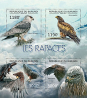 BURUNDI 2012 - Birds Of Prey M/S. Official Issues. - Burundi