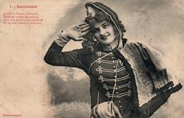 Fantaisie, Femme, Série La Cantinière (n° 1) 1908 - Salut Militaire - Edition Bergeret - Femmes