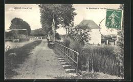 CPA Cheuge, Le Moulin Et Le Pont - France