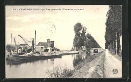 CPA Bretenieres, Les Quais De L`Usine & Le Canal - France