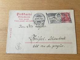 K8 Deutsches Reich Ganzsache Stationery Entier Postal P 65 Mit Mwst. Von Frankfurt/Main Nach Brüssel - Deutschland