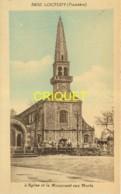 29 Loctudy, Eglise Et Monument Aux Morts, Groupe D'enfants Sur Le Muret... - Loctudy