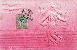 Fantaisie, Femme - La Semeuse D'après Roty - Carte Gaufrée 1907 - Donne