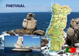 Portugal Country Map New Postcard Landkarte AK - Otros