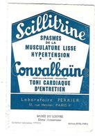 PUB   SANTE---Laboratoire PERRIER---PARIS 9è---scillitrine---voir 2 Scans - Santé