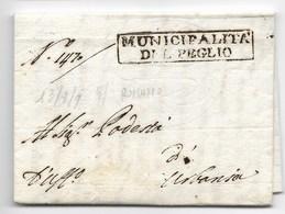 PERIODO NAPOLEONOCO - DA PEGLIO A URBANIA - 13.9.1809. - Italia