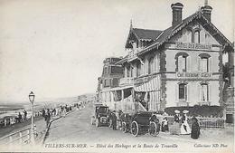 VILLERS- SUR- MER -  HOTEL DES HERBAGES ET LA ROUTE DE TROUVILLE -  VOITURES - Villers Sur Mer