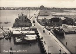 SOTTOMARINA -VENEZIA-PONTE CHIOGGIA-CARTOLINA VERA FOTOGRAFIA- VIAGGIATA IL 20-4-1957 - Venezia (Venice)