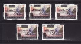 Azerbaijan 1992 - MNH ** - Mi. 70/74 - Overprint - Azerbaïdjan Aserbaidschan --- 01 - Azerbaïdjan