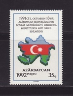 Azerbaijan 1992 - MNH ** - Mi. 69 - Map Flag , Carte Drapeau Karte Flagge - Azerbaïdjan Aserbaidschan --- 03 - Azerbaïdjan