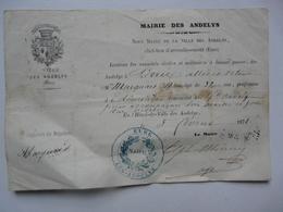 VIEUX PAPIERS - LAISSER PASSER : Mairie Des Andelys (Eure) - Documentos Históricos