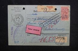 FRANCE  - Bulletin D'expédition De Strasbourg Pour La Suisse En 1925, Affranchissement Plaisant - L 52837 - Colis Postaux