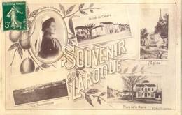 47 - Laroque Timbault - Souvenir - Multivue - Arrivee Cahors - Eglise - Place Mairie - Coiffure De Gascogne - Laroque Timbault