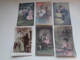 Beau Lot De 60 Cartes Postales De Fantaisie  Couples  Couple    Mooi Lot Van 60 Postkaarten Fantasie  Koppel - 60 Scans - 5 - 99 Postkaarten
