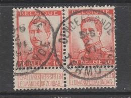 COB 118 En Paire Oblitération Centrale DENDERMONDE - TERMONDE - 1912 Pellens