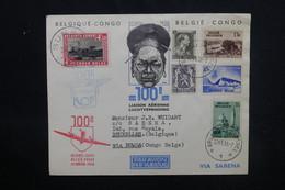 BELGIQUE - Enveloppe De La 100ème Liaison Aérienne Belgique / Congo Belge En 1938, Affranchissement Plaisant - L 52842 - Cartas
