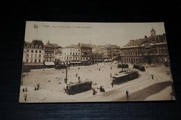 10226          LUIK  LIEGE, PLACE SAINT-LAMBERT ET PALAIS DE JUSTICE - 1929 - Tram - Strassenbahn - Liege