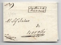 PERIODO NAPOLEONOCO - DA BARCHI PER CITTA' - 4.7.1812. - Italia