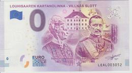 Billet Touristique 0 Euro Souvenir Finlande Louhisaaren Kartanolinna  2018-1 N°LEAL003052 - Private Proofs / Unofficial