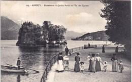 74 - Haute Savoie -  ANNECY -  Promenade Du Jardin Public Et L Ile Des Cygnes ( Belle Animation ) - Annecy