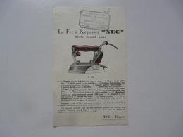 VIEUX PAPIERS - PUBLICITE : Fer à Repasser NEC - Pubblicitari