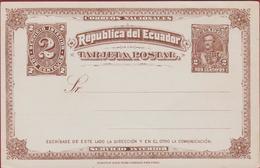 1892 Ecuador Entier Postal EP Postwaardestuk Postal Stationery Card Ganzsache Entero Postal Stamp 2 Dos Centavos - Equateur