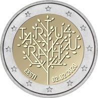 Estonia 2 Euro 2020 Commemorative Coin 100th Anniversary - Treaty Of Tartu UNC - Estland