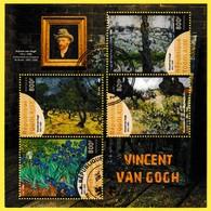 Bloc Feuillet Oblitéré De 4 Timbres-poste - Vincent Van Gogh - République Togolaise 2019 - Togo (1960-...)