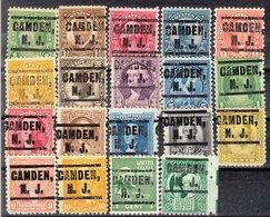 USA Precancel Vorausentwertung Preo, Locals New Jersey, Camden 203, 19 Diff. Perf. 11x10 1/2 - Vorausentwertungen