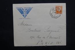ESPAGNE - Enveloppe De L 'Hôtel Victoria De Palma De Mallorca Pour Paris En 1935 - L 52857 - 1931-50 Briefe U. Dokumente