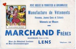 ZE-BUVARD-MARCHAND FRERES-LENS---------Manufacture De Vêtements - V
