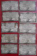 RARE1792-1793 Révolution Française Lot De 97 Assignats Domaines Nationaux Franco De Port Pour L'Europe - Documents Historiques