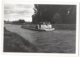 RHUNE CITERNA 11428PF Péniche C.1950 Photo 9x6cm Canal Du Midi ? - Bateaux