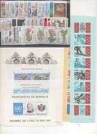 MONACO ANNEE COMPLETE 1993 XX MNH Neufs - + BF Et Carnets - Monaco