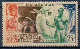 D - [201843]TB//**/Mnh-c:7e-Madagascar 1949, PA72, 25F UPU, Grande Série Coloniale, **/mnh - Luchtpost