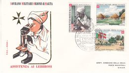 Ordre De Malte - Lettre De  1973 - Oblit Militare Ordine Di Malta - Santé - Infirmières - Contre La Lèpre - Malta (Orden Von)