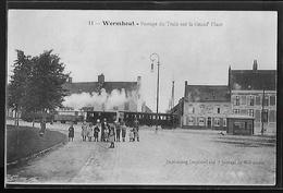 CPA 59 - Wormhout, Passage Du Train Sur La Grand' Place - Wormhout