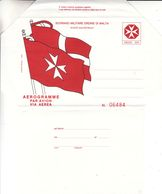 Ordre De Malte - Aérogramme - Drapeaux - Malte (Ordre De)