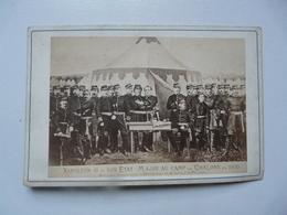 PHOTOGRAPHIE CELEBRITES : Napoléon III Et Son Etat Major Au Camp De Chalons En 1870 - Foto